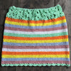 Colorful Crochet Skirt Women Summer Beach