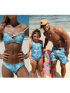 ASHORESHOP Family Matching Swimsuits Beachwear Mother Daughter Dad Son Swimwear