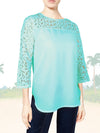 ASHORE WOMENS ELEGANT SHOULDER COTTON LACE TOPS
