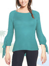 ASHORE WOMENS SLIM FIT FINE SWEATERS WITH BUBBLE CUFF