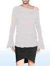 ASHORE WOMENS ASYMMETRIC FALL-OFF SHOULDER FINE SWEATER