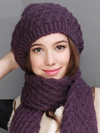 Women Hat Scarf Sets Autumn Winter New Knitted Hats
