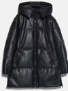 Free Shipping Winter Women Thick Warm Oversize Faux Leather Hoodie Parkas