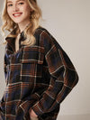 2020 Womens Plaid Warm Fleece Jacket Coat