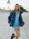 Women/Men Over Size Hip Trendy Ocean Shine Loose Cotton Coat Warm Winter Autumn Jacket