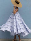 2021 vintage fun big Ball Gown cotton/poly large ruffle flare cool easy slip on dresses