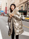 Winter Long Hooded Shiny Jacket Womens Winter Jackets