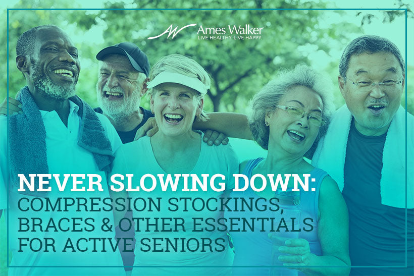 Never Slowing Down: Compression Stockings, Braces & Other Essentials for Active Seniors