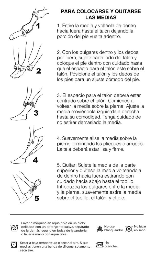 Wear and Care Guide in Spanish