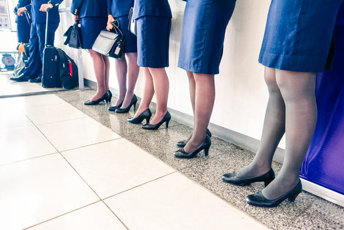 a806c1780b40a Why Female Flight Attendants Wear Compression Pantyhose – Ames Walker