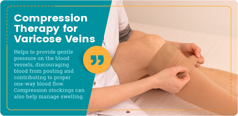 compression therapy for varicose veins quote