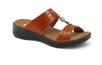 dr comfort brown sandal
