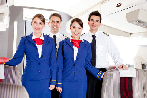 friendly cabin crew