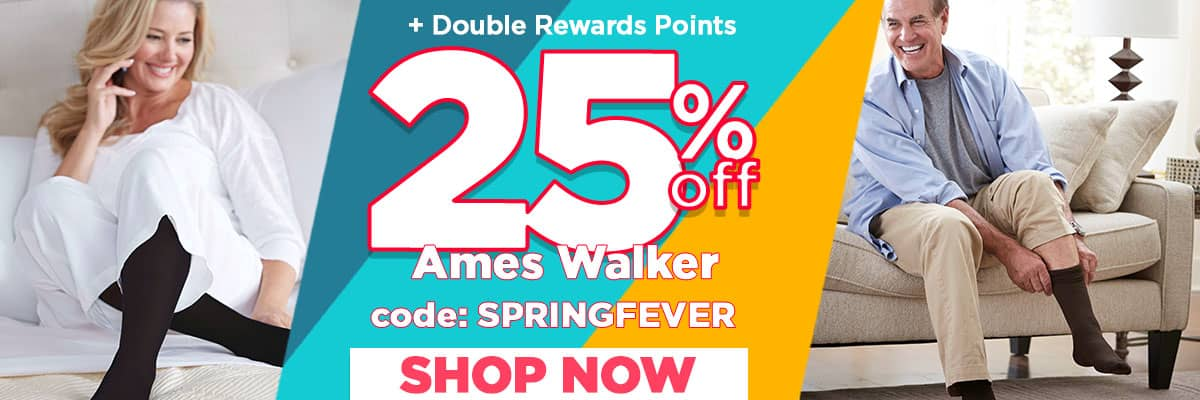 25% off Ames Walker + Double Rewards Points!