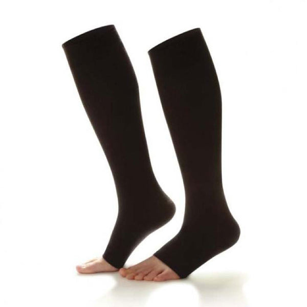 Dr. Comfort Open Toe Knee High Socks - 15-20 mmHg