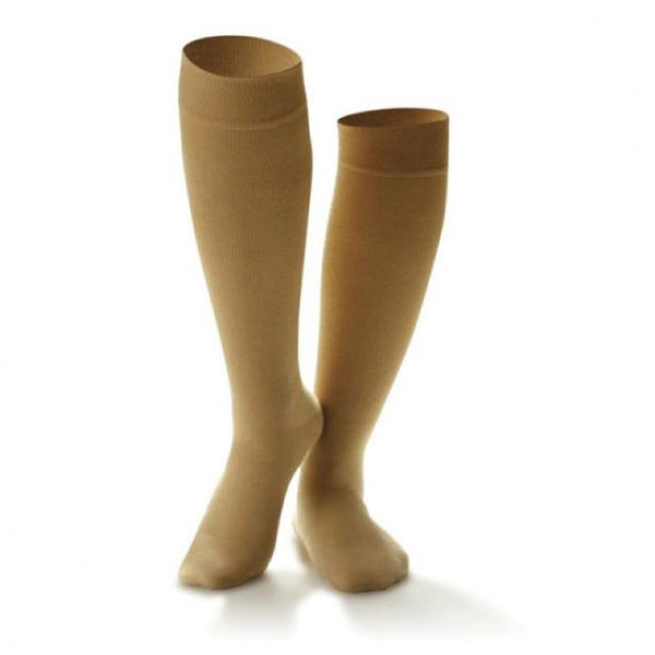 Dr. Comfort Women's Cotton Casual Knee High Trouser Socks - 20-30 mmHg