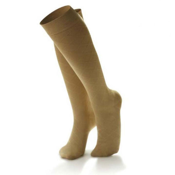 Dr. Comfort Women's Micro-Nylon Fashion Knee High Trouser Socks - 10-15 mmHg