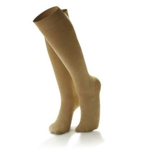 Dr. Comfort Women's Micro-Nylon Fashion Knee High Trouser Socks - 20-30 mmHg