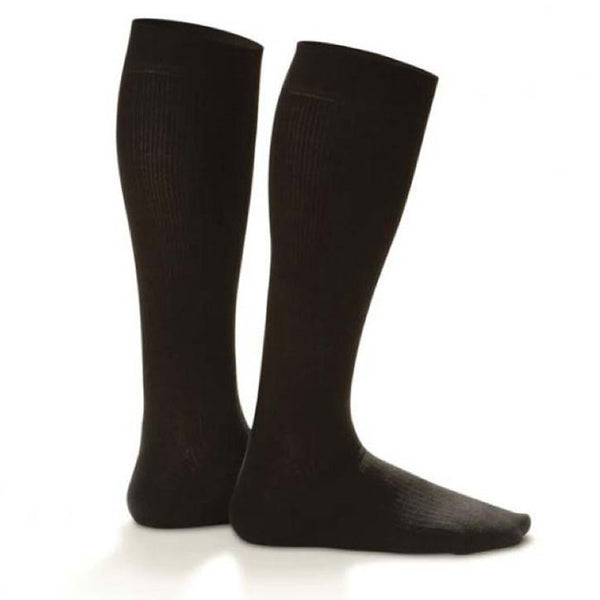 Dr. Comfort Men's Micro-Nylon Knee High Dress Socks - 10-15 mmHg
