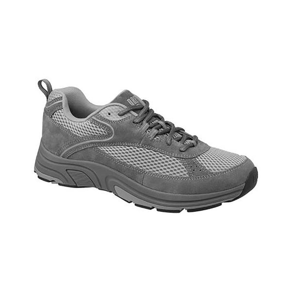 Drew Men's Athletic Aaron Shoes - Grey Suede/Mesh