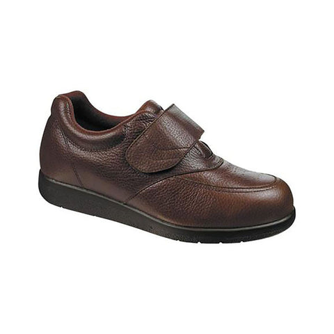 Drew Men's Navigator II Shoes - Brown Pebbled Leather