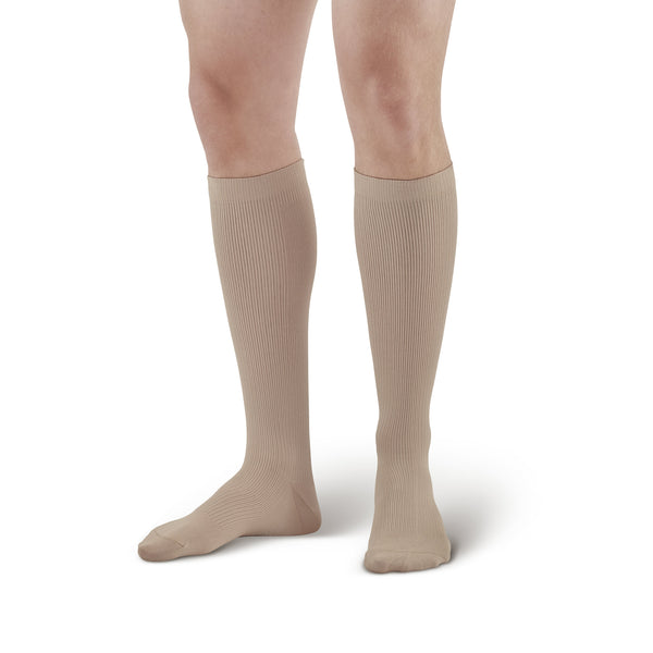 AW Style 101 Men's Microfiber Knee High Dress Socks - 15-20 mmHg