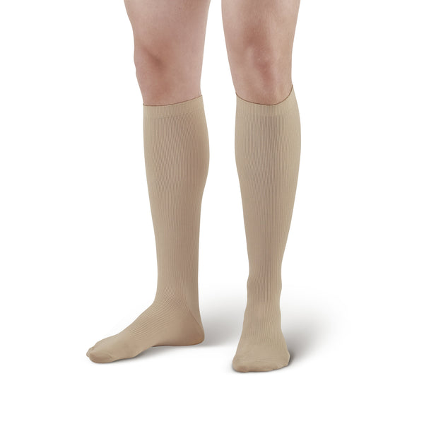Ames Walker Compression Men's Knee High Socks - Khaki