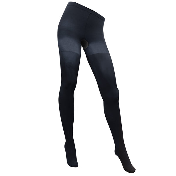 AW Style 108 Microfiber Opaque Closed Toe Tights 8-15 mmHg Navy