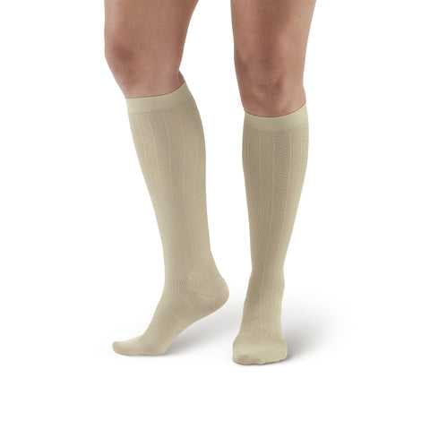 Ames Walker Women's Moderate Compression Support Patterned Dress sock