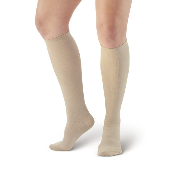 AW Style 116 Women's X-Static Silver Knee High Socks - 20-30 mmHg