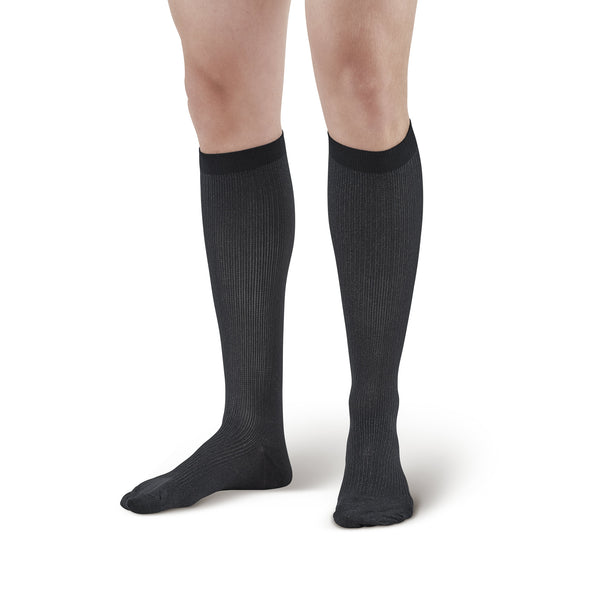 Ames Walker Men's X-Static Silver Knee High Socks - 20-30 mmHg