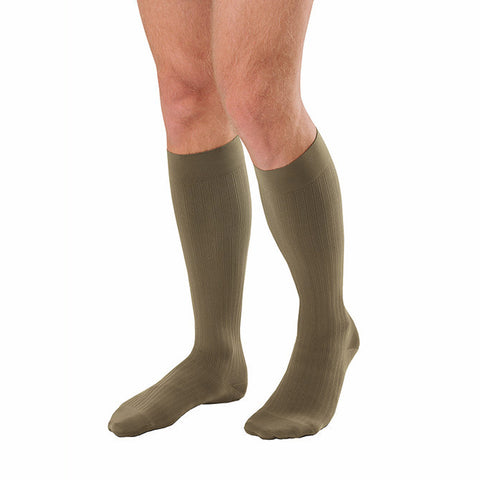 Jobst Compression Knee High Socks For Men Khaki 20-30 mmHg