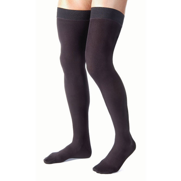 Jobst for Men Closed Toe Thigh Highs - 15-20 mmHg - Black