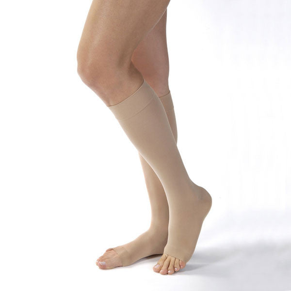 Jobst Opaque Open Toe Knee Highs - 15-20 mmHg