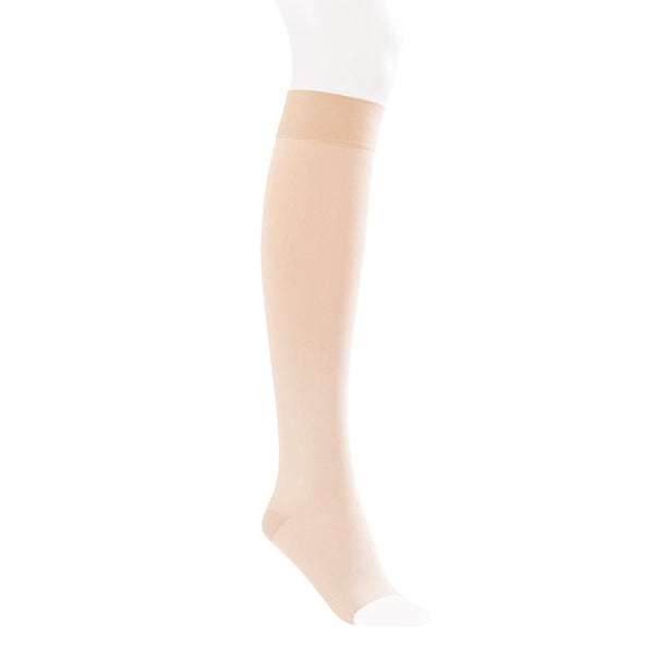 Jobst Opaque SoftFit Open Toe Knee Highs- 15-20 mmHg - Natural