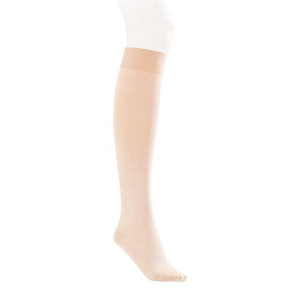 Jobst Opaque SoftFit Closed Toe Knee Highs - 30-40 mmHg - Natural