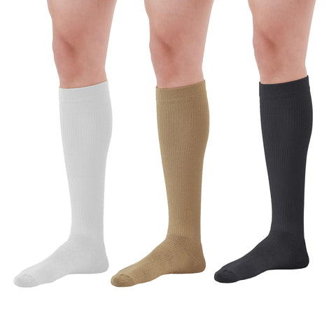 AW Styles Coolmax Over-the-Calf Socks Variety Pack - 20-30 mmHg (3-pack)