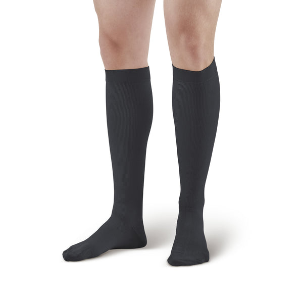 Ames Walker Men's Knee High Compression Socks - 30-40 mmHg Black