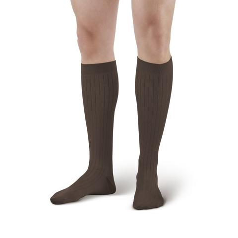 AW Style 129 Men's Microfiber/Cotton Knee High Dress Socks - 15-20 mmHg (Sale)