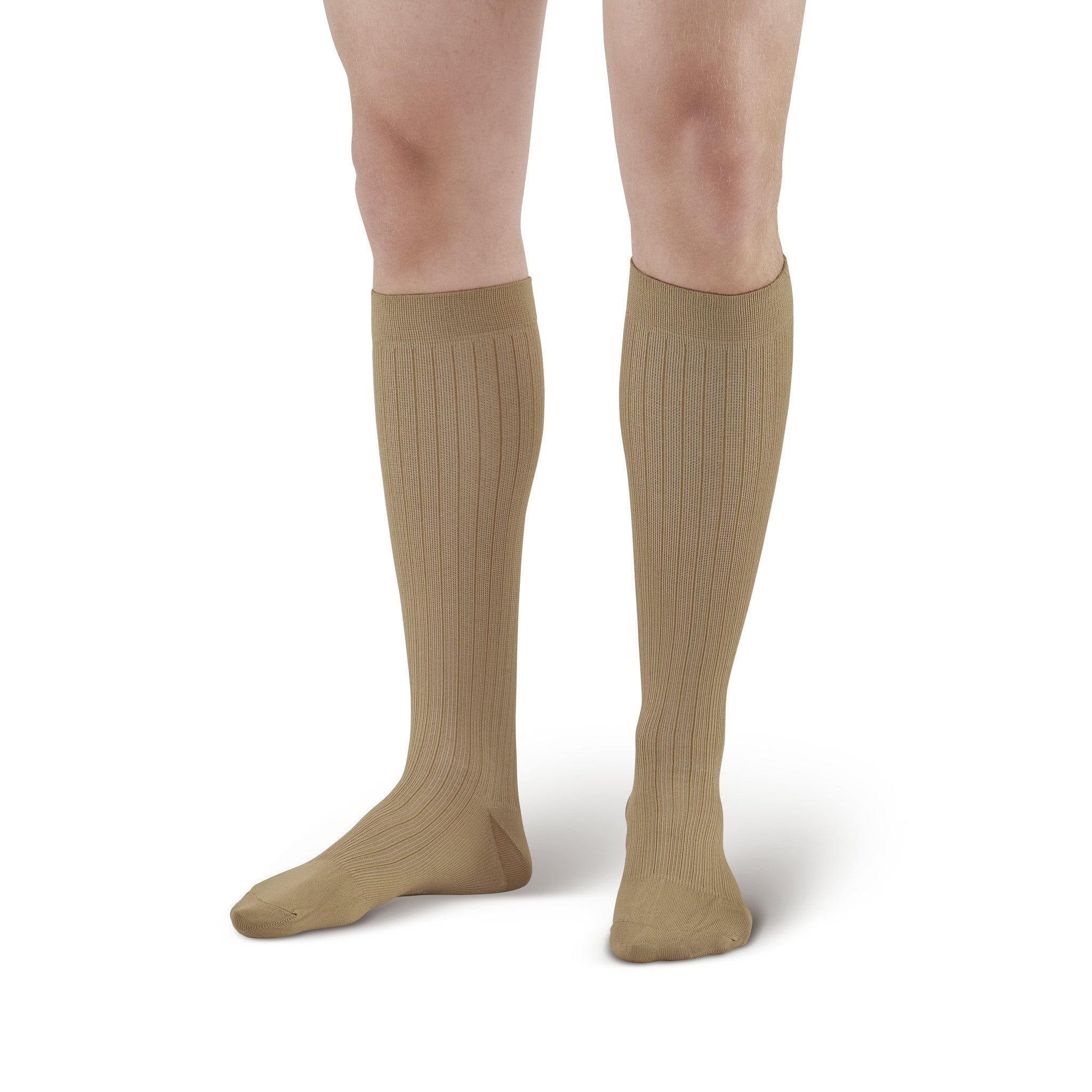 9ddaa29adc ... Ames Walker Compression Knee High Khaki Dress Socks - 20-30 mmHg ...
