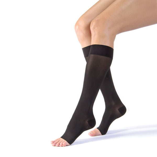 Jobst UltraSheer Open Toe Knee Highs - 15-20 mmHg
