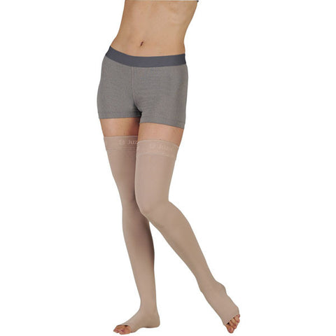 Juzo Soft 2000 Open Toe Thigh Highs w /Silicone Band - 15-20 mmHg