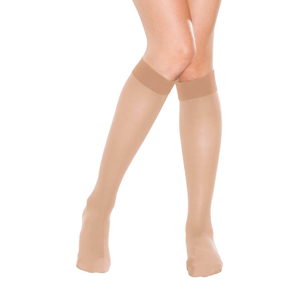 Therafirm Women's Closed Toe Knee Highs- 15-20 mmHg - Natural