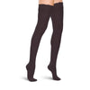Therafirm Women's Closed Toe Thigh Highs w/ Lace Band - 20-30 mmHg - Black