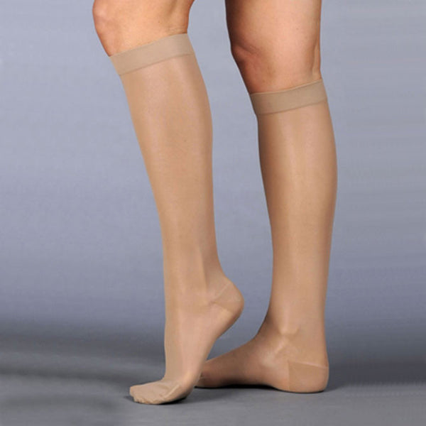 Juzo 2100 Naturally Sheer Closed Toe Knee Highs - 15-20 mmHg