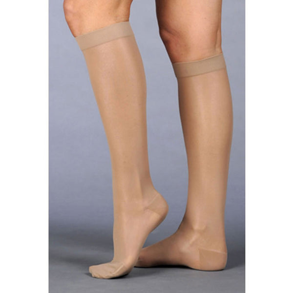 Juzo 2102 Naturally Sheer Open Toe Knee Highs - 30-40 mmHg