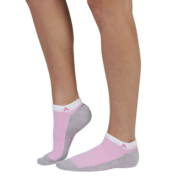 0b018b00a1d Juzo 5760 Silver Sole Anklet Socks - Pink