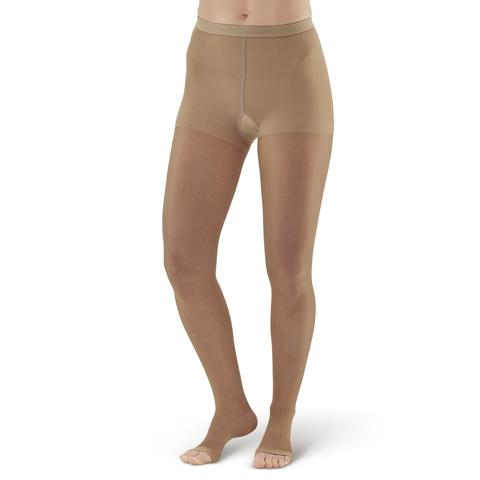 AW Style 15OT Sheer Support Open Toe Pantyhose - 15-20 mmHg (SALE) Small Beige