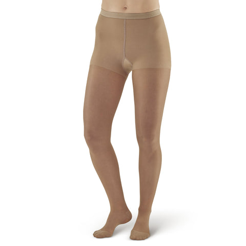 AW Style 33 Sheer Support Closed Toe Pantyhose - 20-30 mmHg - Beige