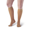 AW Style 16 Sheer Support Closed Toe Knee Highs - 15-20 mmHg - Beige